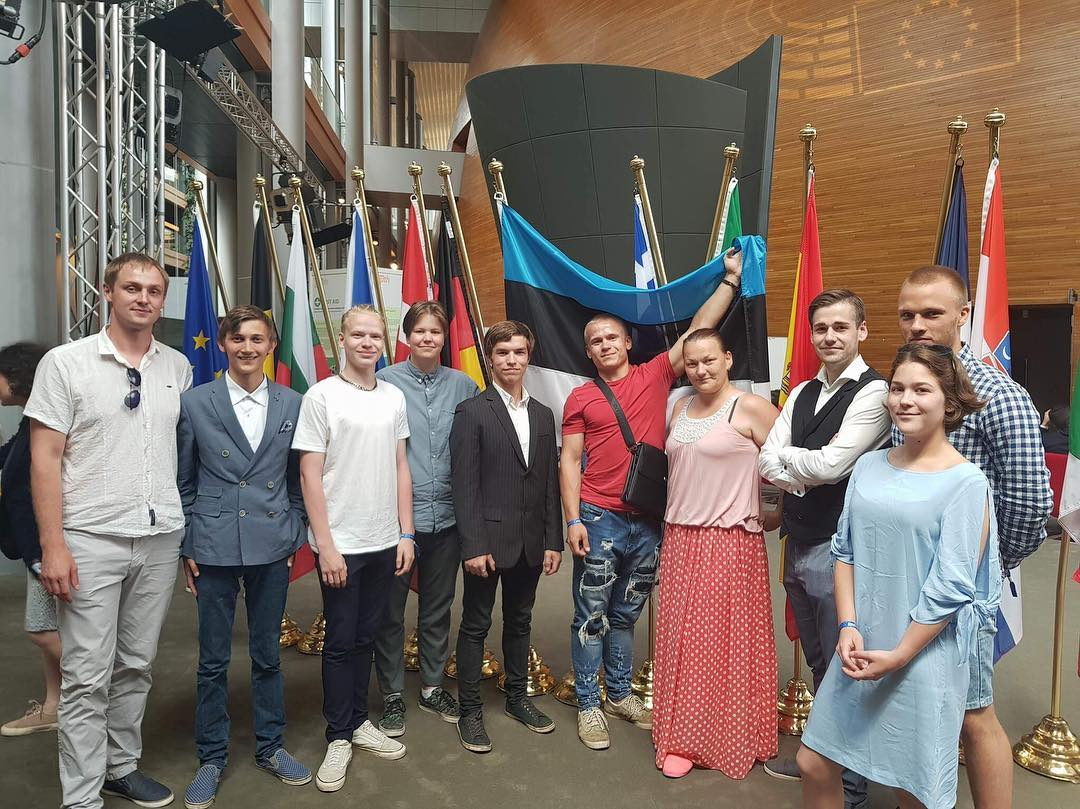 European Youth Event: Risto Merdenson, Jasper Jürisson, Raul Toomi, Laury-Margus Lind, Violetta Mihhailova, Calla Koppel, Kristjan Klasen